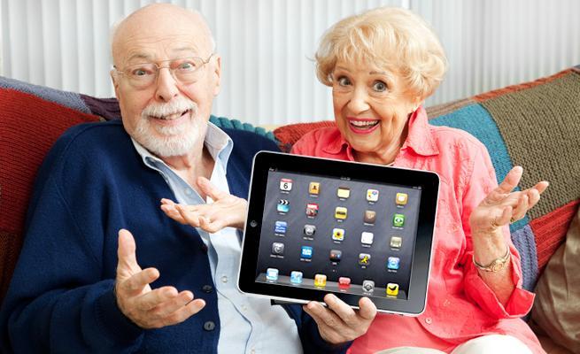 Elderly At Using Technology